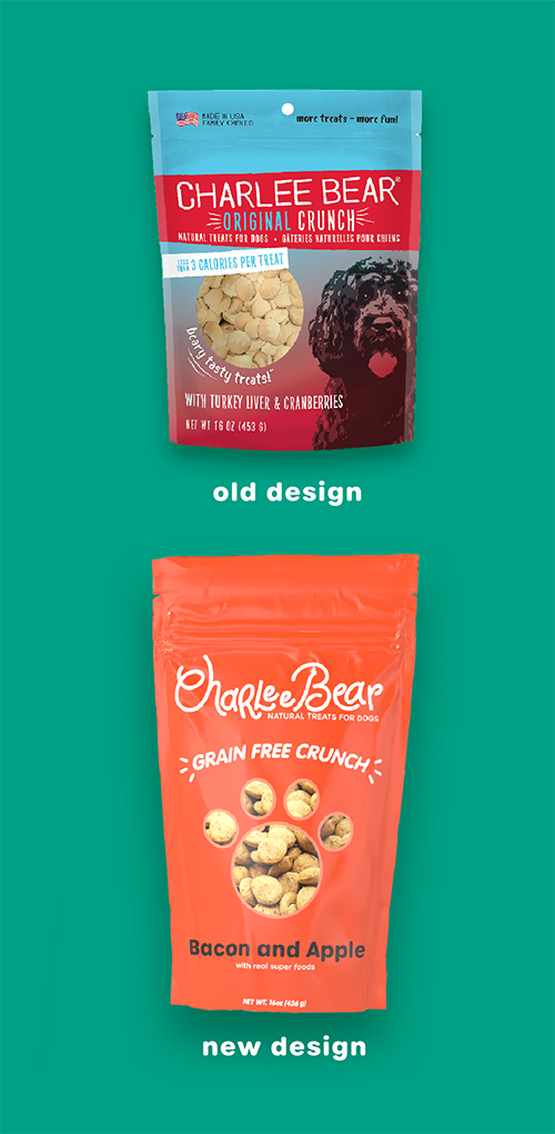 Charlee Bear Dog Treats Packaging Comparison